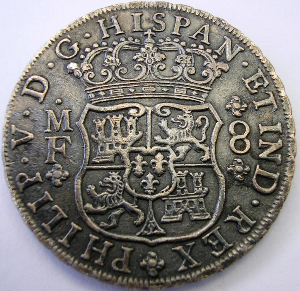 8 Reales Felipe V 1745 Mexico MF F_v_8r12