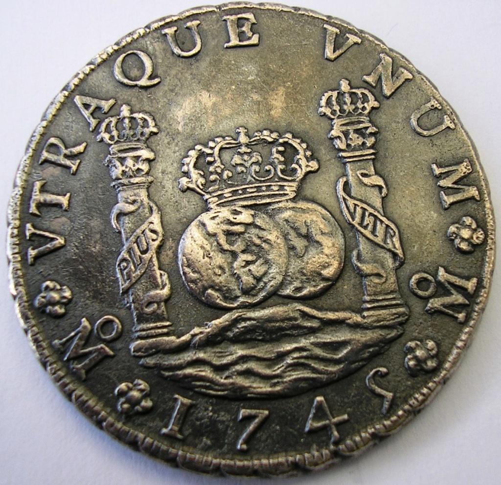 8 Reales Felipe V 1745 Mexico MF F_v_8r13