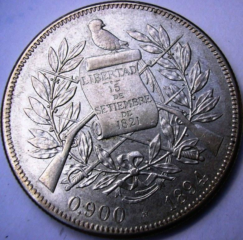Guatemala Peso de 1894. Guatem10