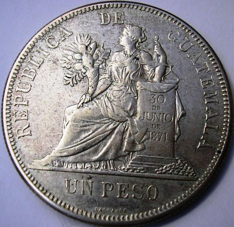 Guatemala Peso de 1894. Guatem11