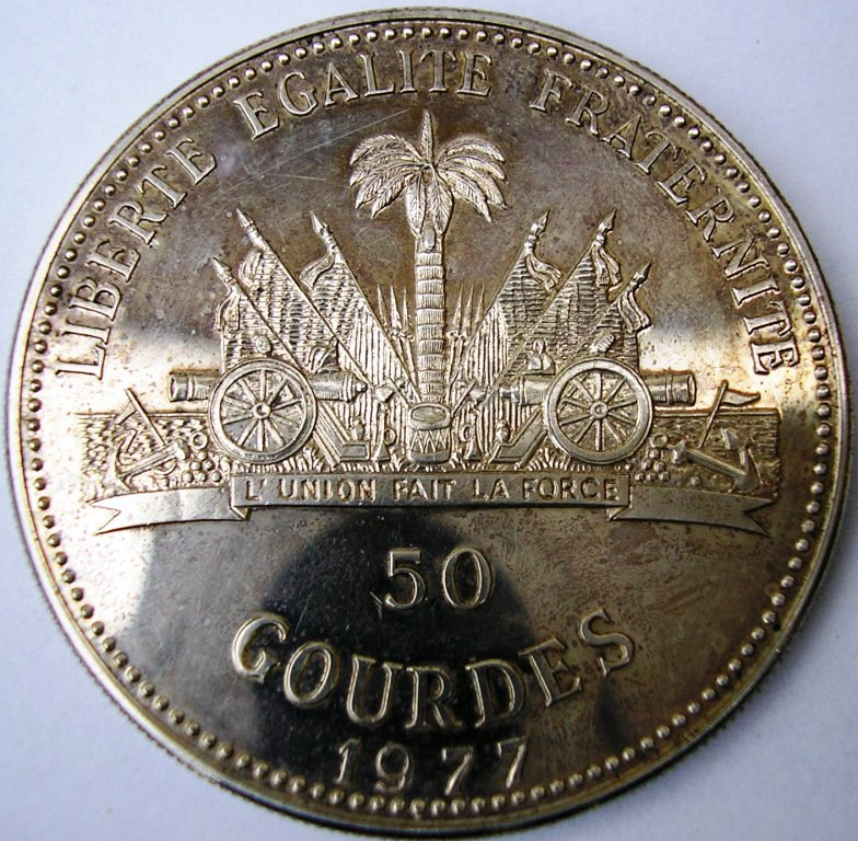 propaganda estatal en las monedas. Haiti_10