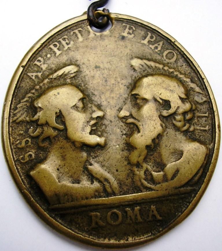 San Pedro -San Pablo -Arcángel San Gabriel: Roma. Medall16