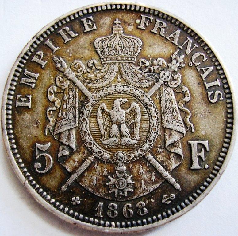 5 francos 1868 Nalole10