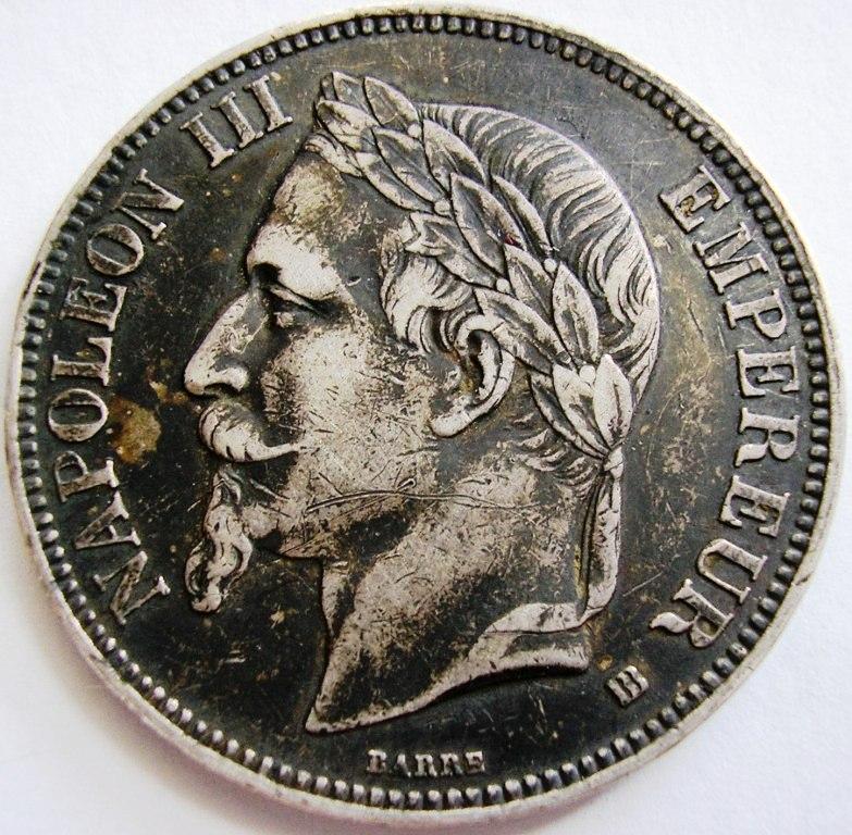 5 francos 1868 Napole12