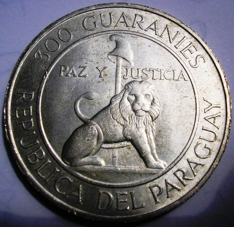 300 guaranies 1968 a 73: IV mandato de Stroessner. Paragu10