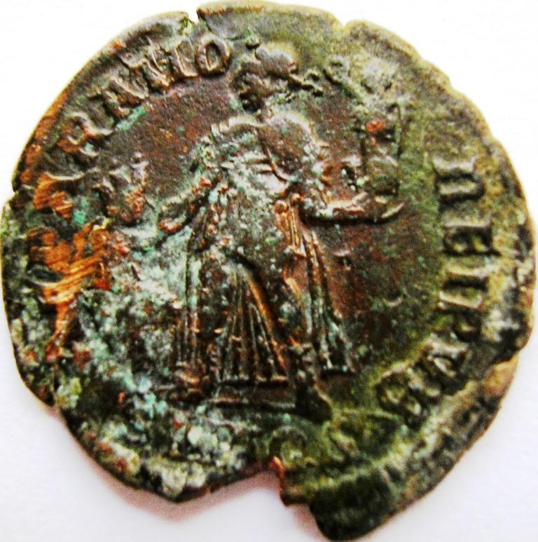 Leyendas anverso en REPARATIO REI PVB de Valentiniano II. Valent11