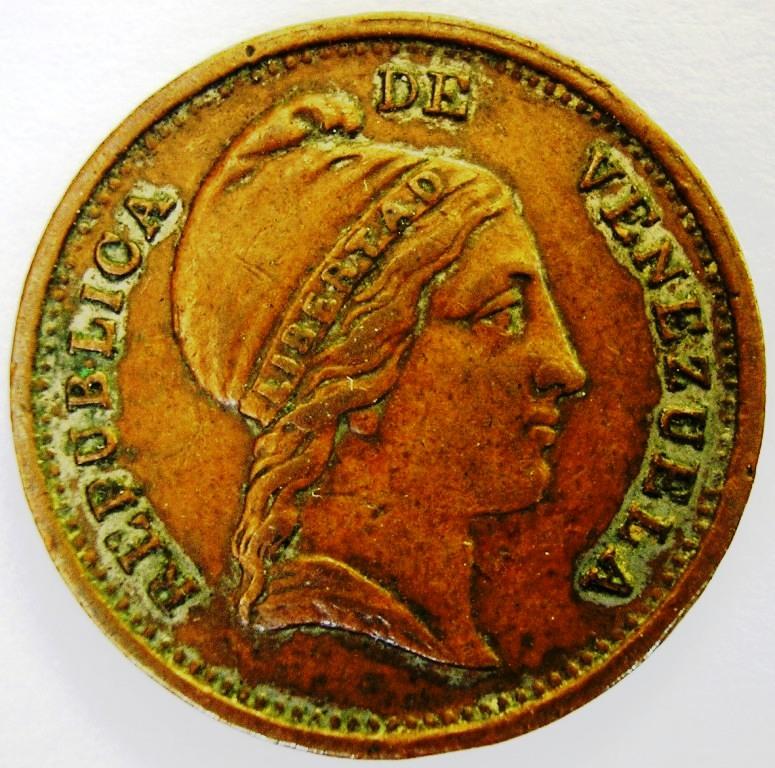Venezuela, 1/4 Centavo de 1852 Venez_10