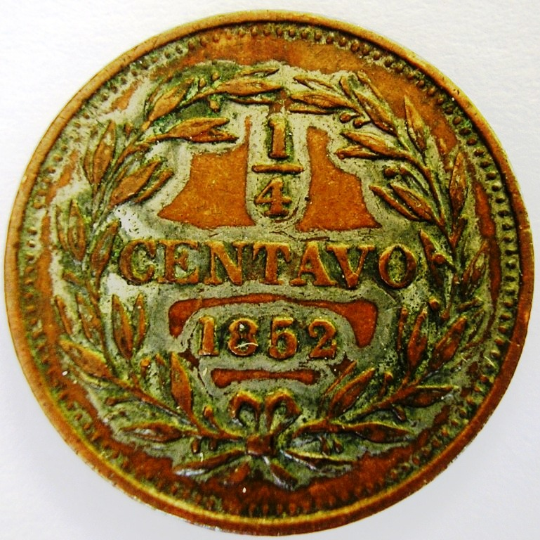 Venezuela, 1/4 Centavo de 1852 Venez_11