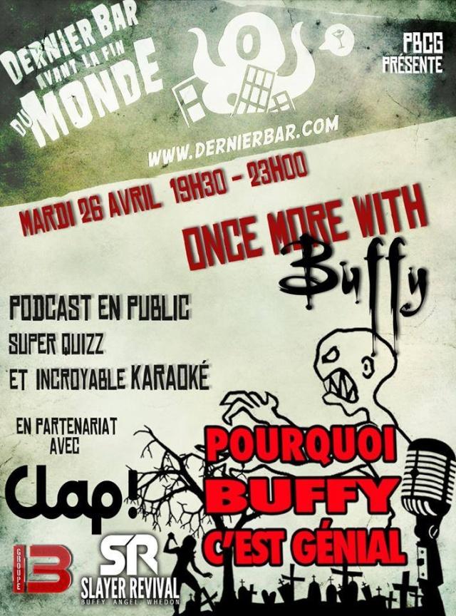 Soirée gratuite pour réunir les fans de Buffy [Paris, 26 avril 2016] 16100310