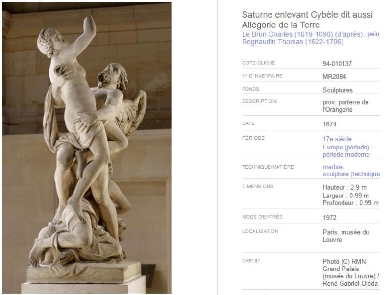 Cronos, Chronos ou Saturne, dieu du temps à Versailles 89710
