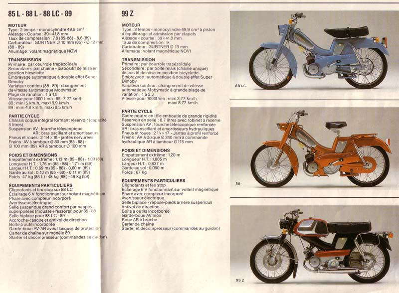 "Souvenirs souvenirs la Motobécane AV 88 la ""Bleue"" Av88-l10"