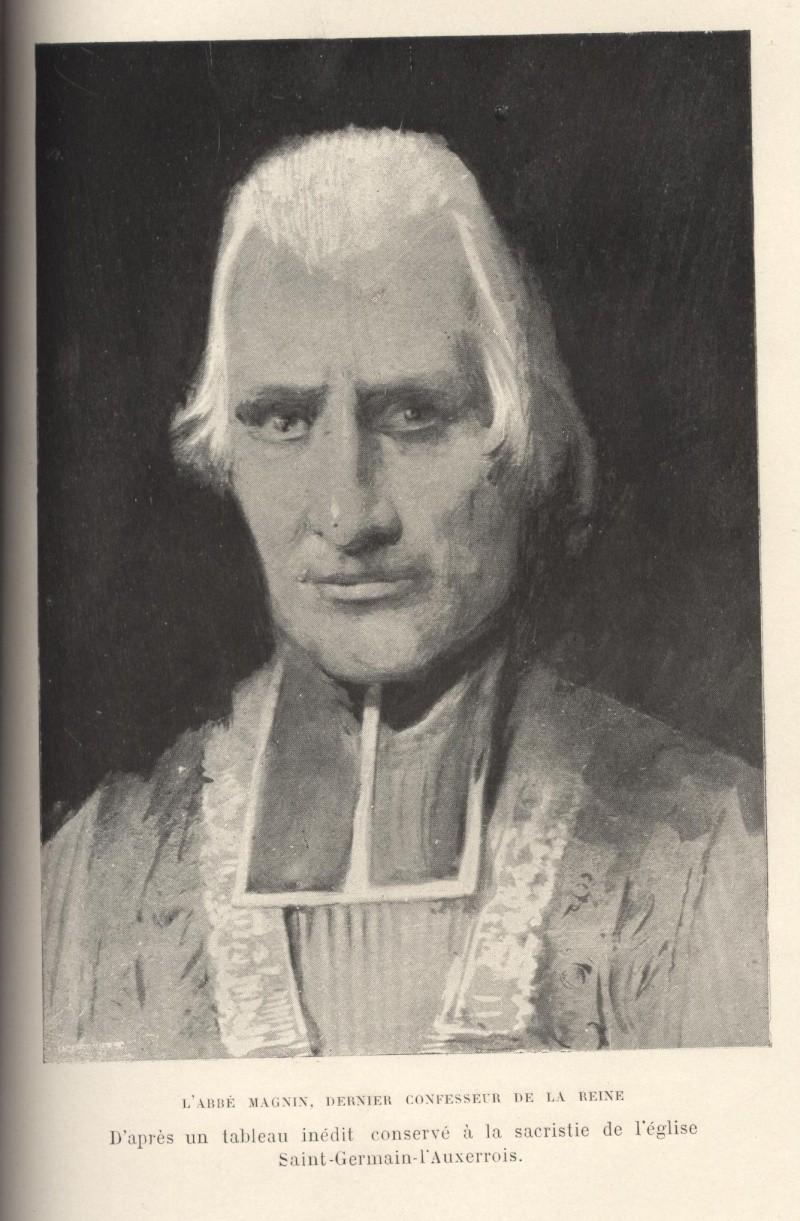 Confession de la Reine avec l'abbé Magnin. 01012