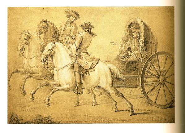 Les véhicules du XVIIIe siècle : carrosses, berlines, calèches, landaus, cabriolets etc. 5-loui11