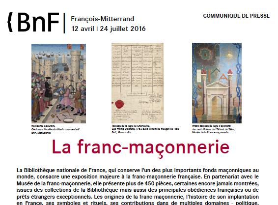 expo :  La franc-maçonnerie, à la BnF François-Mitterrand à Paris Bnf_fm10