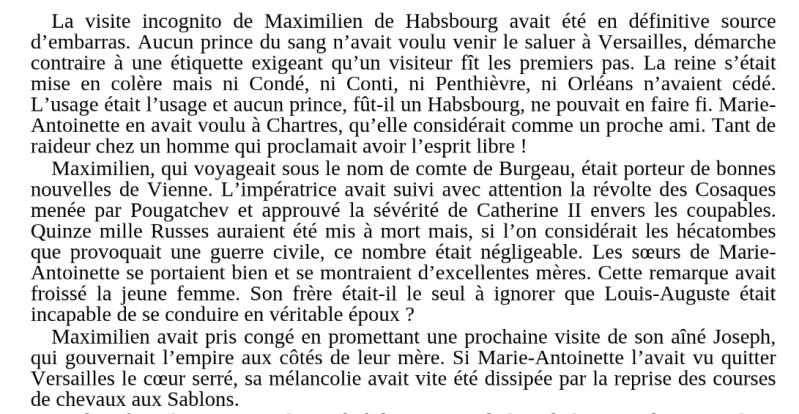 Les visites des archiducs Maximilien et Ferdinand d'Autriche, à Versailles Books17