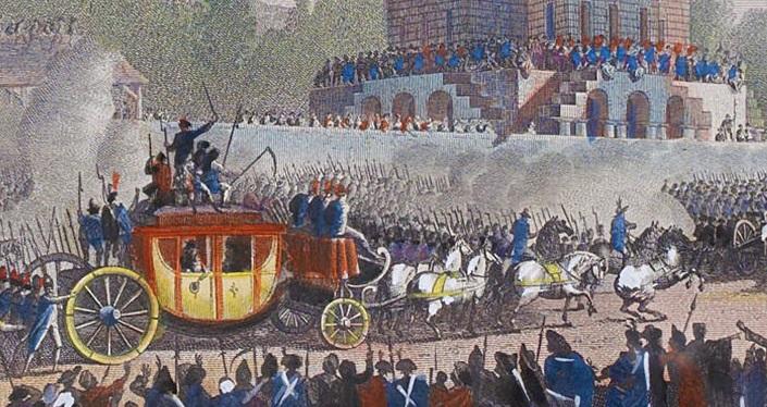 Les véhicules du XVIIIe siècle : carrosses, berlines, calèches, landaus, cabriolets etc. Fuite-10