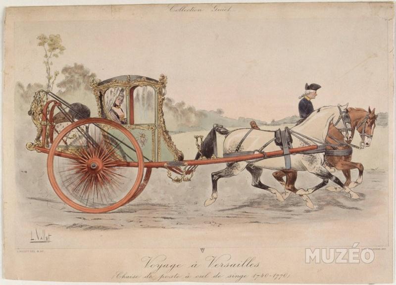 Les véhicules du XVIIIe siècle : carrosses, berlines, calèches, landaus, cabriolets etc. La_cha10
