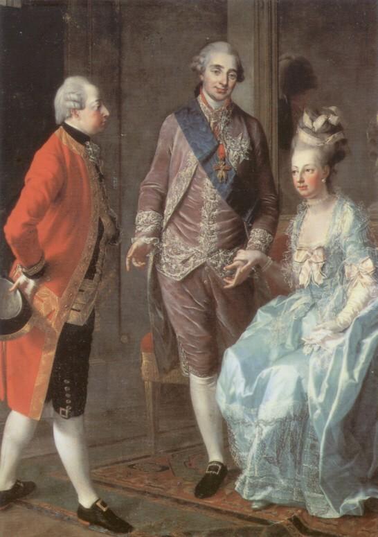 Les visites des archiducs Maximilien et Ferdinand d'Autriche, à Versailles Marie_11