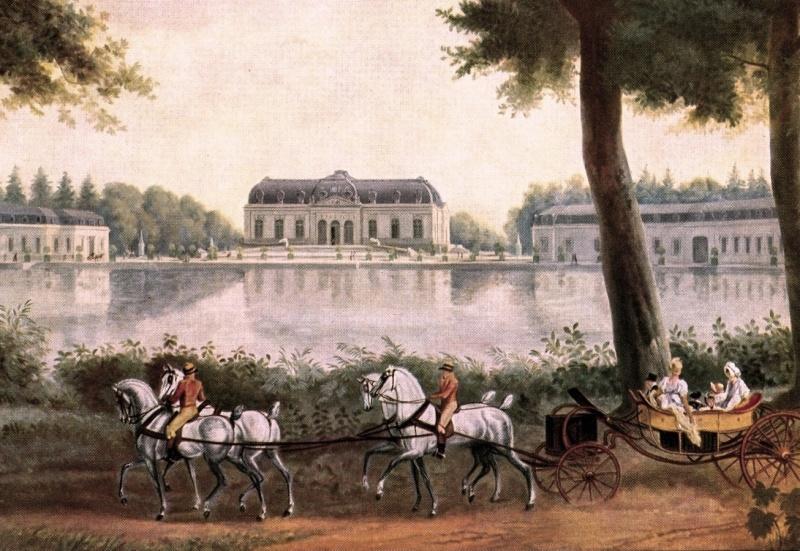 Les véhicules du XVIIIe siècle : carrosses, berlines, calèches, landaus, cabriolets etc. Timbre21