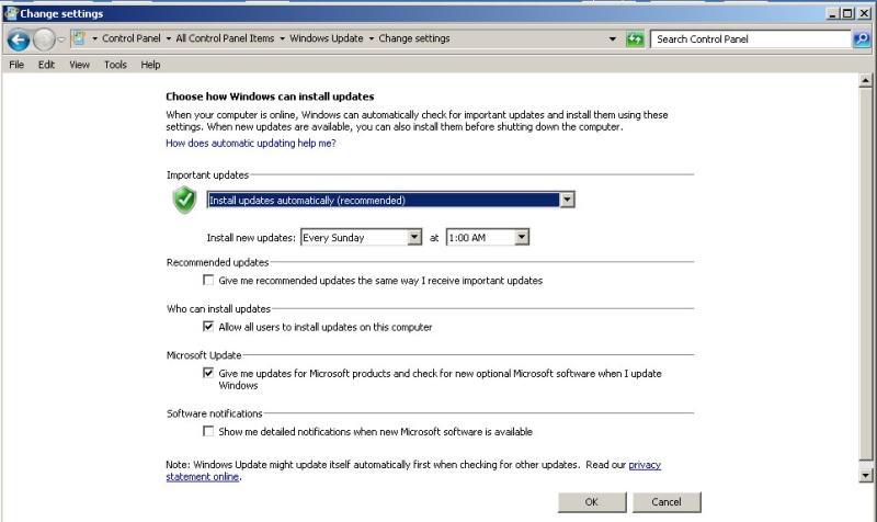 Windows Defender Updates Window10