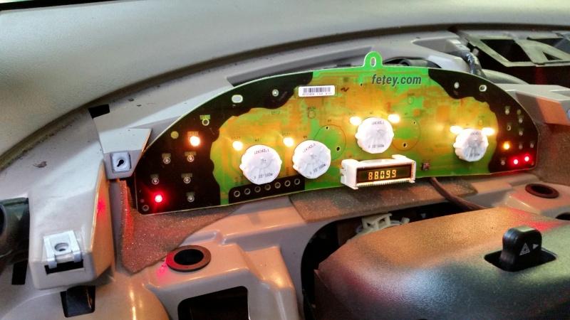 Chevrolet Cavalier 2002, lumière d'indicateur de kilométrage non fonctionnelle (défi la réparer) 2016-032