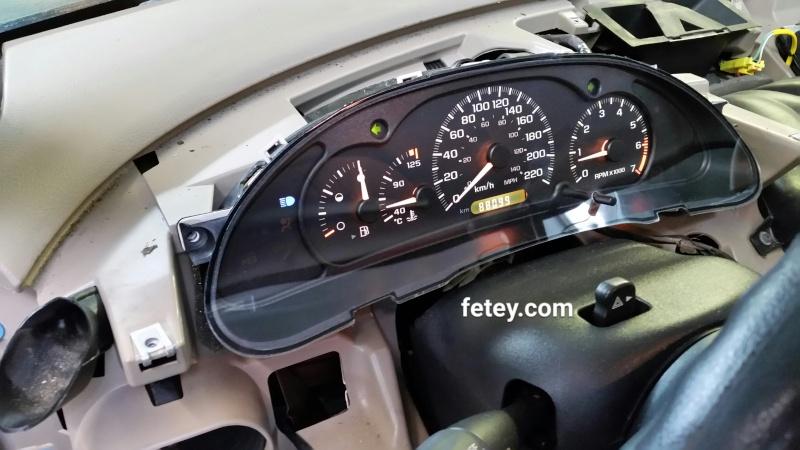 Chevrolet Cavalier 2002, lumière d'indicateur de kilométrage non fonctionnelle (défi la réparer) 2016-033