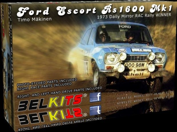 Ford Escort RS1600 MkI / Fast & Furious 6 [Belkit + Renaissance 1/24] Bel00610