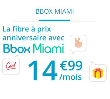 Pour ses 20 ans, Bouygues Telecom propose la Bbox Miami à 14,99€ Bboxmi12