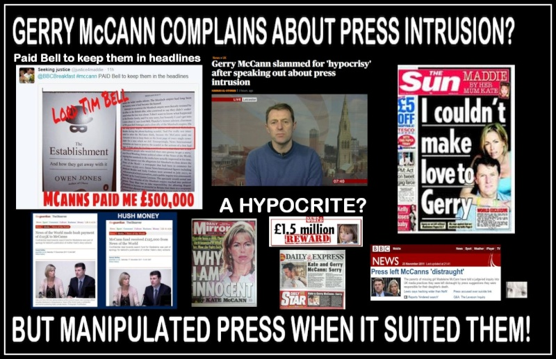Press intrusion victims say Cameron's failure to keep promises is 'betrayal' - once again, Gerry McCann whinges about press coverage Intrus10