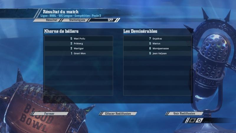 [WC j7 p2] Les démisérables (ash) 2-0 (Valdelterne) Khorne de Bélier 20160313