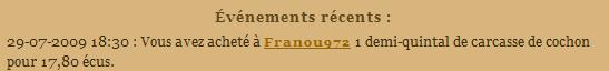 [SS] Affaire Franou972 escroquerie - à archiver Evenem47