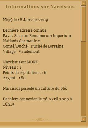[SS] Affaire Narcissus - Escroquerie Affaire à Classer Fiche_15