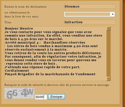 [SS] Affaire Sloum10 - Escroquerie  Affaire à classer Lettre14