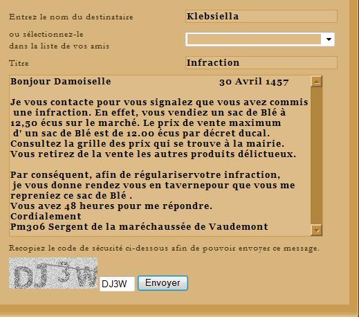 [SS] Affaire Klebsiella  - Escroquerie Affaire à classer Lettre32