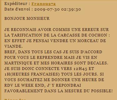 [SS] Affaire Franou972 escroquerie - à archiver Lettre56