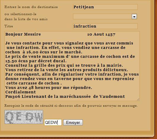 [SS] Affaire Petitjean escroquerie Affaire à archiver Lettre59