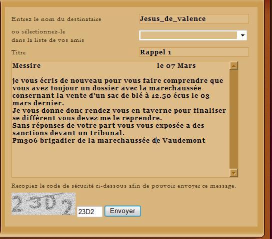 [SS] Affaire Jesus de Valence - Escroquerie Affaire à claser Rappel10