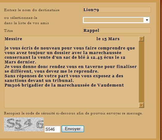 [SS] Affaire Lion79 - Escroquerie  Affaire à classer Rappel11