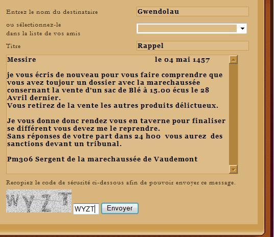 [SS] Affaire Gwendolau - Escroquerie Affaire mise en justice Rappel18