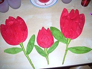 Fleurs en papier crépon Fleurs10