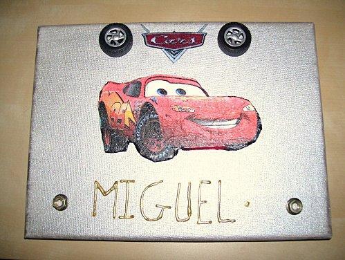 Tableau Cars pour mon prince Miguel10