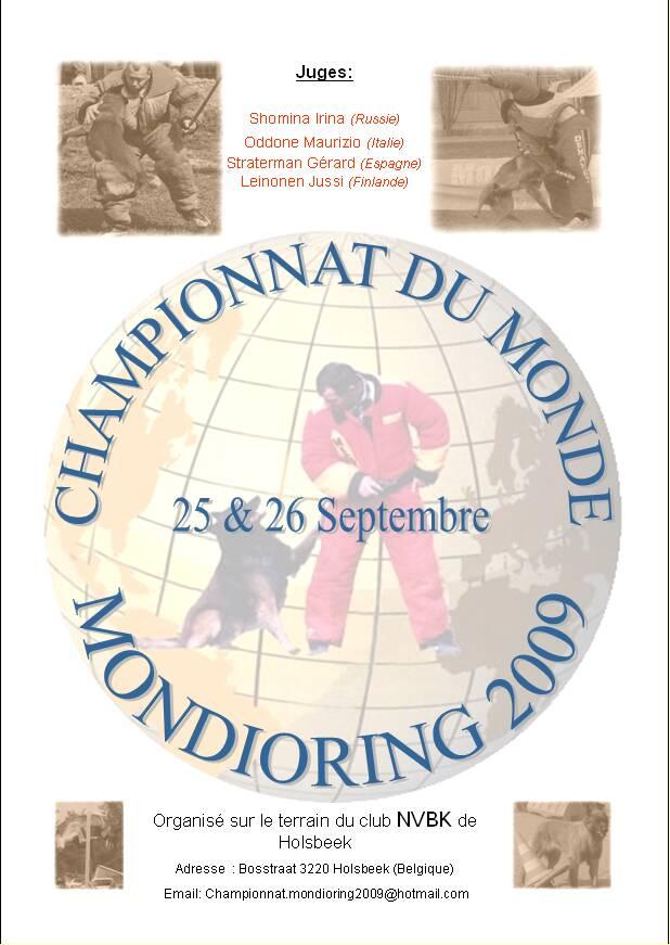 CH du monde Mondioring 2009 Affich10