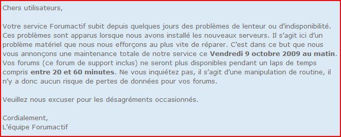 Travaux de maintenance chez notre hébergeur Forumactif Captur20