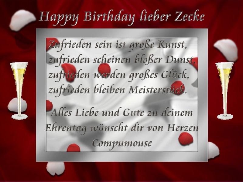 Happy Birthday Superzecke Zecke10