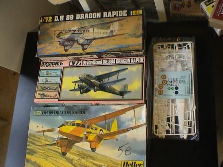 [Heller] De Havilland DH89 Dragon Rapide + Conversion DH 84 Dragon Dh110