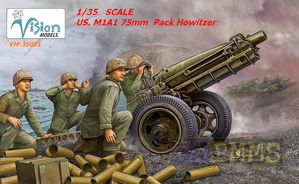 New US 75mm Pack Howitzer from Vision Models Vm350010