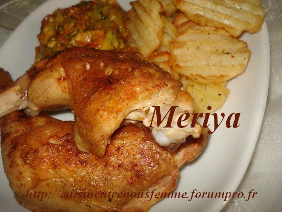 Cuisses de poulet  rôtis et èpicés . Dsc06012