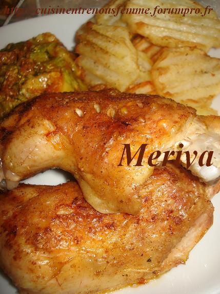 Cuisses de poulet  rôtis et èpicés . Dsc06013