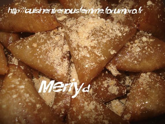 Briwates marocaines (Triangles)  aux amandes / Briwates ou Briouates B'louz Dsc06122