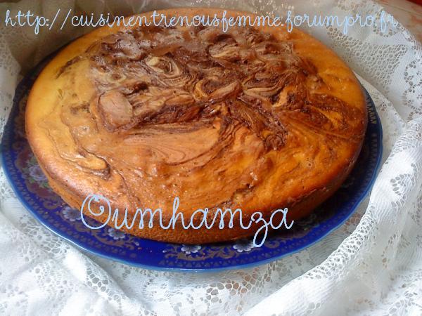 Meskouta ou Maskouta au jus d'orange et chocolat / Gâteau Marocain au jus d'orange et chocolat! Photos11